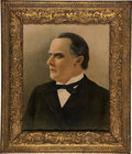 Political:Posters & Broadsides (1896-present), William McKinley: Colorful Poster in Ornate Victorian Frame....