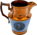 Political:3D & Other Display (pre-1896), Andrew Jackson: Largest Size Copper Luster Pitcher....