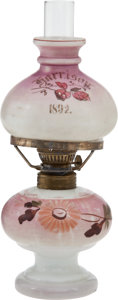 Political:3D & Other Display (pre-1896), Benjamin Harrison: 1892 Campaign Lamp....