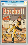 Golden Age (1938-1955):Miscellaneous, Baseball Comics #1 (Will Eisner, 1949) CGC VF 8.0 Cream to off-white pages....