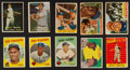 Baseball Cards:Lots, 1950's Bowman and Topps Baseball Collection (153) With Stars andFour Mantle Cards. ...