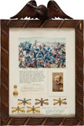 Autographs:Military Figures, George Armstrong Custer: An Attractive Display Including Autographsof Custer and Wife Elizabeth....
