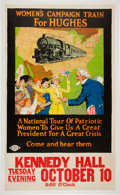 Political:Posters & Broadsides (1896-present), Charles Evans Hughes: Women's Campaign Train Poster....