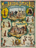 """Western Expansion:Cowboy, Buffalo Bill """"Knock-off"""" Wild West Show Poster...."""