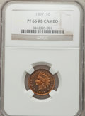 Proof Indian Cents, 1897 1C PR65 Red and Brown Cameo NGC....