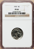 Proof Buffalo Nickels: , 1937 5C PR65 NGC. NGC Census: (382/826). PCGS Population(619/1128). Mintage: 5,769. Numismedia Wsl. Price for problemfree...