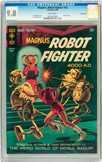 Magnus Robot Fighter #15 Twin Cities pedigree (Gold Key, 1966) CGC NM/MT 9.8 White pages