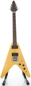 Musical Instruments:Electric Guitars, 1985 Gibson Flying V Yellow Solid Body Electric Guitar, Serial#80885523....