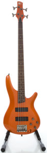 Musical Instruments:Bass Guitars, Ibanez SR300 Orange Electric Bass Guitar, Serial #I081021291....