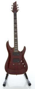 Musical Instruments:Electric Guitars, Schecter Hellraiser Special Trans Red Solid Body Electric Guitar, Serial # W10072238....