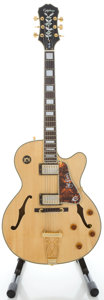 Musical Instruments:Electric Guitars, Epiphone Joe Pass Emperor Natural Archtop Electric Guitar, Serial#S9203448....