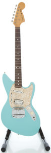 Musical Instruments:Electric Guitars, Circa 1996 Fender Jag-Stang Daphne Blue Solid Body Electric Guitar,Serial #V007461....