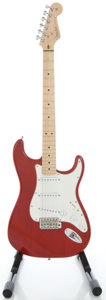 Musical Instruments:Electric Guitars, 2005 Fender Stratocaster USA Highway One Trans Red Solid BodyElectric Guitar, Serial #Z5029028....