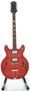 Musical Instruments:Electric Guitars, 1970's Epiphone EA-250 Redburst Semi-Hollow Body Electric Guitar, Serial #145191...