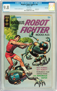 Magnus Robot Fighter #26 Twin Cities pedigree (Gold Key, 1969) CGC NM/MT 9.8 White pages