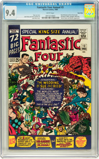 Fantastic Four Annual #3 Twin Cities pedigree (Marvel, 1965) CGC NM 9.4 White pages