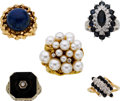 Estate Jewelry:Rings, Multi-Stone, Cultured Pearl, Gold Rings. ...