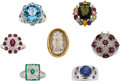 Estate Jewelry:Rings, Multi-Stone, Diamond, Gold, Sterling Silver Rings. ...