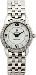 Estate Jewelry:Watches, Concord Lady's Diamond, Stainless Steel Watch. ...
