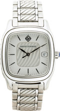 Estate Jewelry:Watches, David Yurman Gentleman's Stainless Steel Thoroughbred Wristwatch,modern. ...