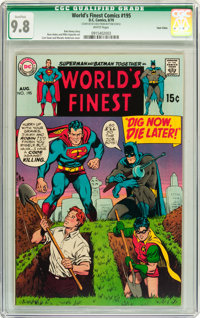 World's Finest Comics #195 Twin Cities pedigree (DC, 1970) CGC Qualified NM/MT 9.8 White pages