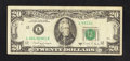 Error Notes:Foldovers, Fr. 2076-L $20 1988A Federal Reserve Note. Fine-Very Fine.. ...
