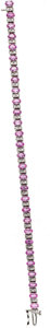Estate Jewelry:Bracelets, Pink Sapphire, Diamond, White Gold Bracelet. ...