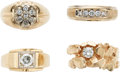 Estate Jewelry:Rings, Gentleman's Diamond, Gold Rings . ...