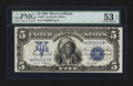 Large Size:Silver Certificates, Fr. 281 $5 1899 Silver Certificate PMG About Uncirculated 53 EPQ.. ...