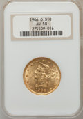Liberty Eagles: , 1906-O $10 AU58 NGC. NGC Census: (75/238). PCGS Population(42/198). Mintage: 86,895. Numismedia Wsl. Price for problem fre...