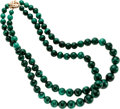 Estate Jewelry:Necklaces, Malachite, Gold Necklace. ...