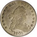 Early Dollars: , 1801 $1 Fine 12 PCGS. B-4, BB-214, R.4. Die State III. First 1nearly touches curl, second 1 ...