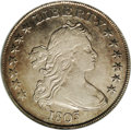 Early Dollars: , 1803 $1 Small 3 VF30 NGC. B-5, BB-252, R.3. Die State I. Stars 1and 7 distant from curl and ...