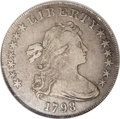 Early Dollars: , 1798 $1 Large Eagle, 10 Arrows VF30 NGC. B-13, BB-108, R.3. Thismoderately scarce die pairin...