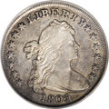 Early Dollars: , 1803 $1 Small 3 XF45 PCGS. B-1, BB-251, R.4. Glints of lusterappear beneath soft blue-gray a...