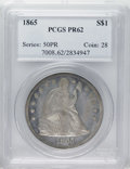 Proof Seated Dollars: , 1865 $1 PR62 PCGS. Popular as the final collectible issue of the NoMotto type, bolstered by ...