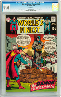 World's Finest Comics #187 Twin Cities pedigree (DC, 1969) CGC NM 9.4 White pages