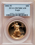 Modern Bullion Coins, 2002-W G$50 One-Ounce Gold Eagle PR70 Deep Cameo PCGS. PCGSPopulation (140). NGC Census: (578). Numismedia Wsl. Price for...