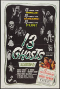 """Movie Posters:Horror, 13 Ghosts (Columbia, 1960). One Sheet (27"""" X 41""""). Horror.. ..."""