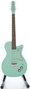 Musical Instruments:Electric Guitars, Recent Danelectro Surf Green Electric Guitar....