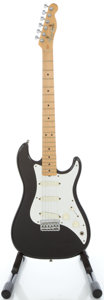 Musical Instruments:Electric Guitars, 1981 Fender Bullet Black Solid Body Electric Guitar, Serial#E124023....