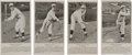 Baseball Cards:Sets, 1934 Buffalo Bisons Team Issue Complete Set (4) - All Known Subjects. ...