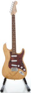 Musical Instruments:Electric Guitars, 2004 Fender Stratocaster MIM Natural Solid Body Electric Guitar,Serial #MZ4047182....