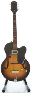 Musical Instruments:Electric Guitars, Circa 1963 Gretsch Clipper Sunburst Semi-Hollow Body Electric Guitar, Serial #57926....