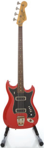 Musical Instruments:Bass Guitars, 1960's Hagstrom Red Electric Bass Guitar, Serial #701633....