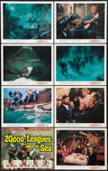 "Movie Posters:Science Fiction, 20,000 Leagues Under the Sea (Buena Vista, R-1963). Lobby Card Setof 8 (11"" X 14""). Science Fiction.. ... (Total: 8 Items)"
