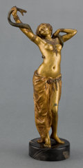 Sculpture, AN AUSTRIAN EROTIC COLD-PAINTED FIGURAL BRONZE ATTRIBUTED TO FRANZ XAVIER BERGMAN . Vienna, Austria, circa 1900 . Unmarked. ...