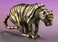 Silver Smalls:Other , A TIFFANY & CO. SILVER AND ENAMEL TIGER DESIGNED BY GENE MOORE. Made in Italy for Tiffany & Co., New York, New York, circ...