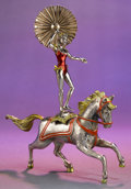 Silver Smalls:Other , A TWO PIECE TIFFANY & CO. SILVER AND ENAMEL CIRCUS PERFORMERAND HORSE DESIGNED BY GENE MOORE . Made in Italy for Tiffany &... (Total: 2 Items)