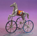 Silver Smalls:Match Safes, A TIFFANY & CO. SILVER AND ENAMEL CIRCUS HORSE ON WHEELSDESIGNED BY GENE MOORE . Made in Italy for Tiffany & Co., NewYork...